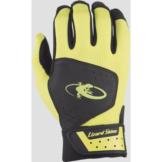 Lizard Skins Komodo Batting Gloves | Jet Black/Neon