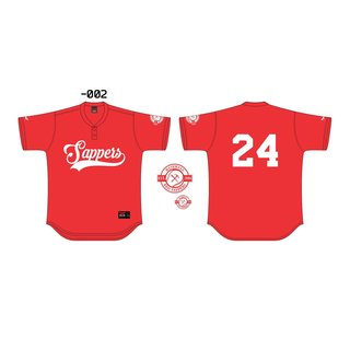 Red Sappers 2-Button Baseball Jersey von Maxim